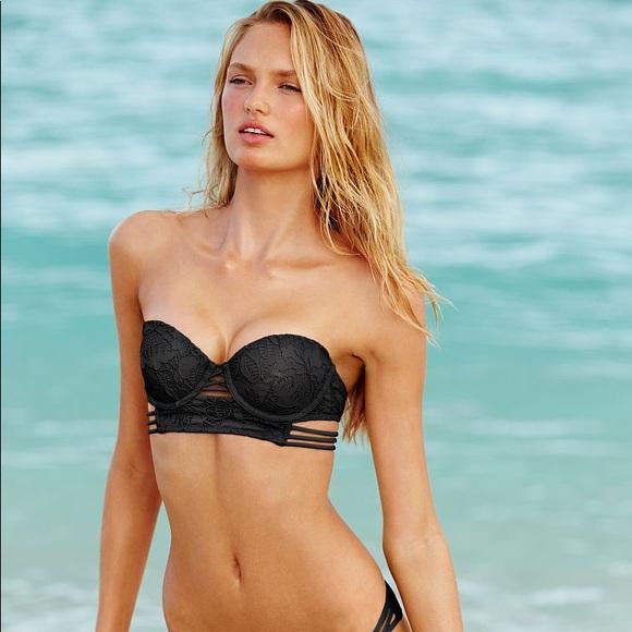 63f3244e0b Victoria's Secret Swim   Victorias Secret Midi Beach Bandeau Black ...
